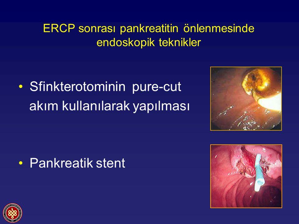 ERCP sonrası pankreatitin önlenmesinde endoskopik teknikler