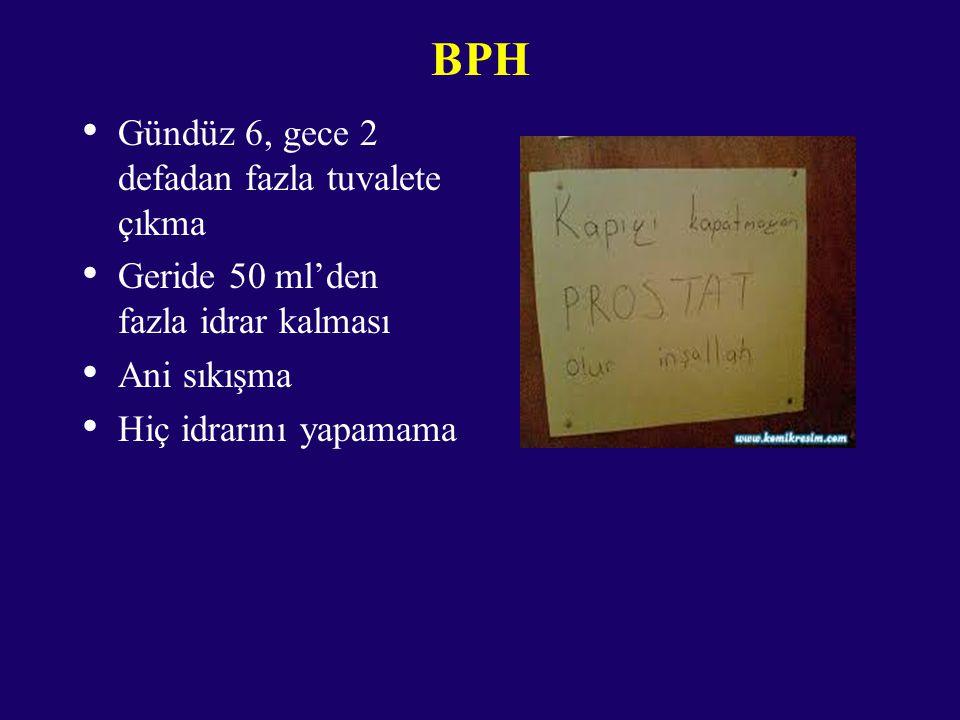 BPH Gündüz 6, gece 2 defadan fazla tuvalete çıkma