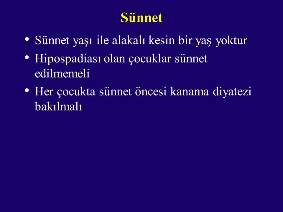Sünnet Sünnet yaşı ile alakalı kesin bir yaş yoktur