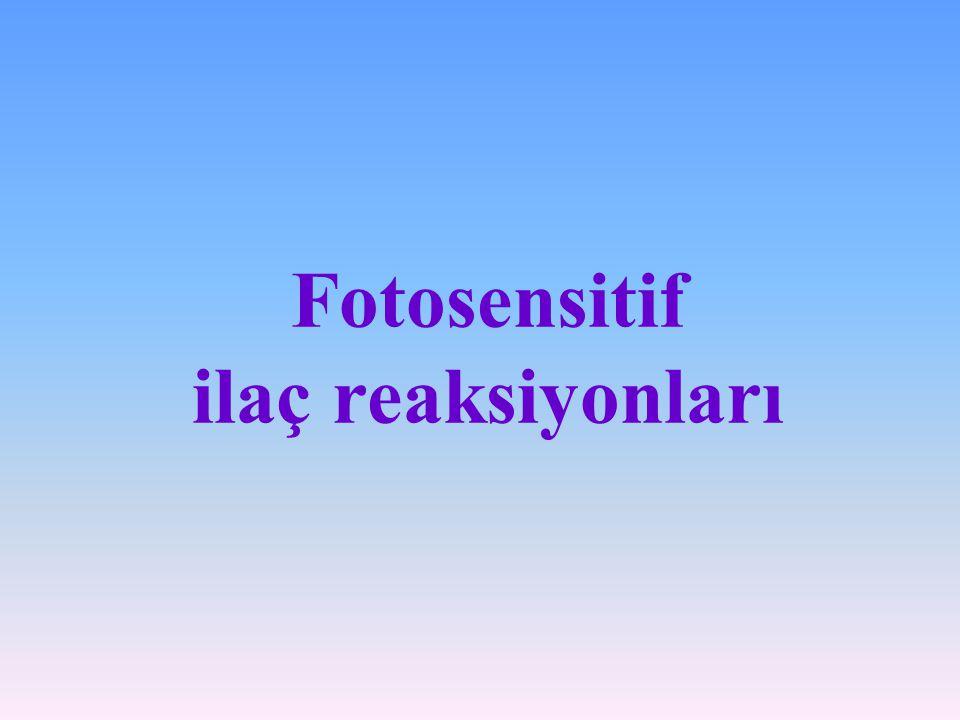 Fotosensitif ilaç reaksiyonları