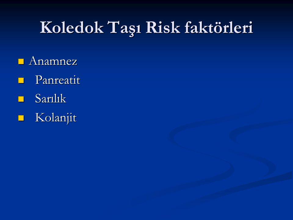 Koledok Taşı Risk faktörleri
