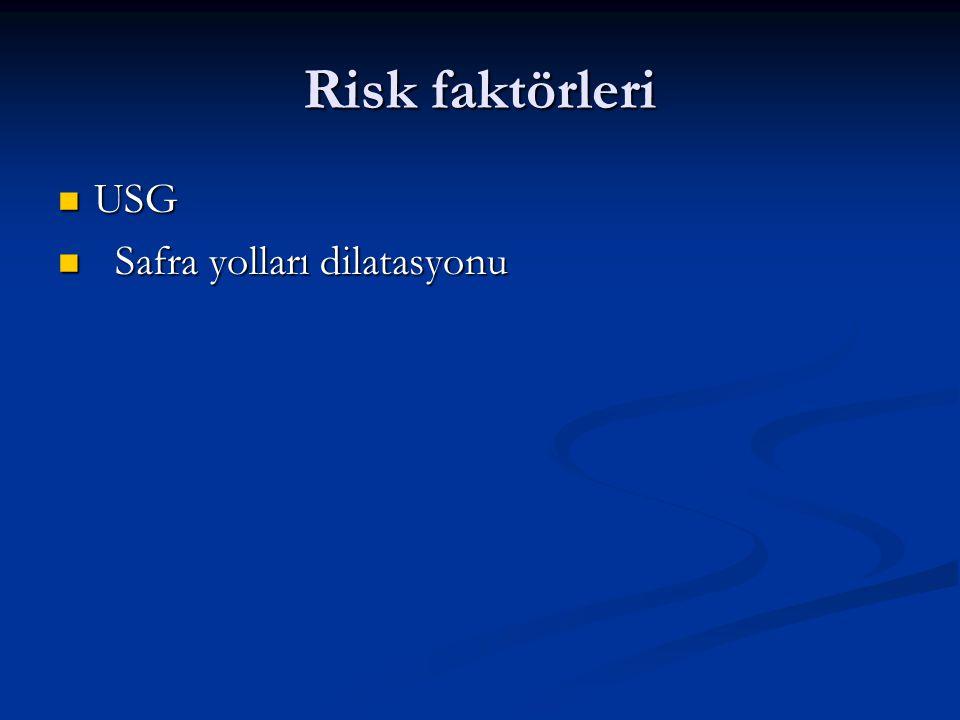 Risk faktörleri USG Safra yolları dilatasyonu