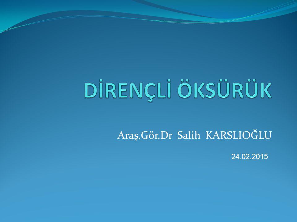 Araş.Gör.Dr Salih KARSLIOĞLU
