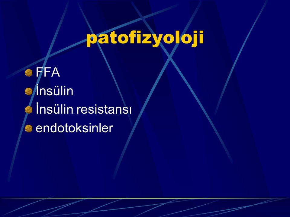 patofizyoloji FFA İnsülin İnsülin resistansı endotoksinler