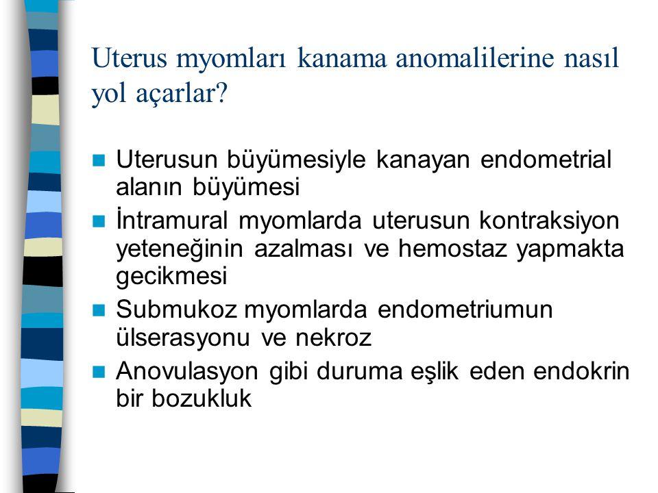 Uterus myomları kanama anomalilerine nasıl yol açarlar