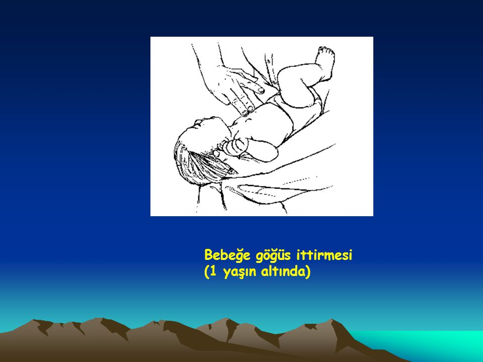 Bebeğe göğüs ittirmesi