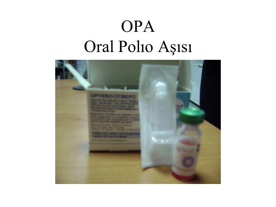 OPA Oral Polıo Aşısı