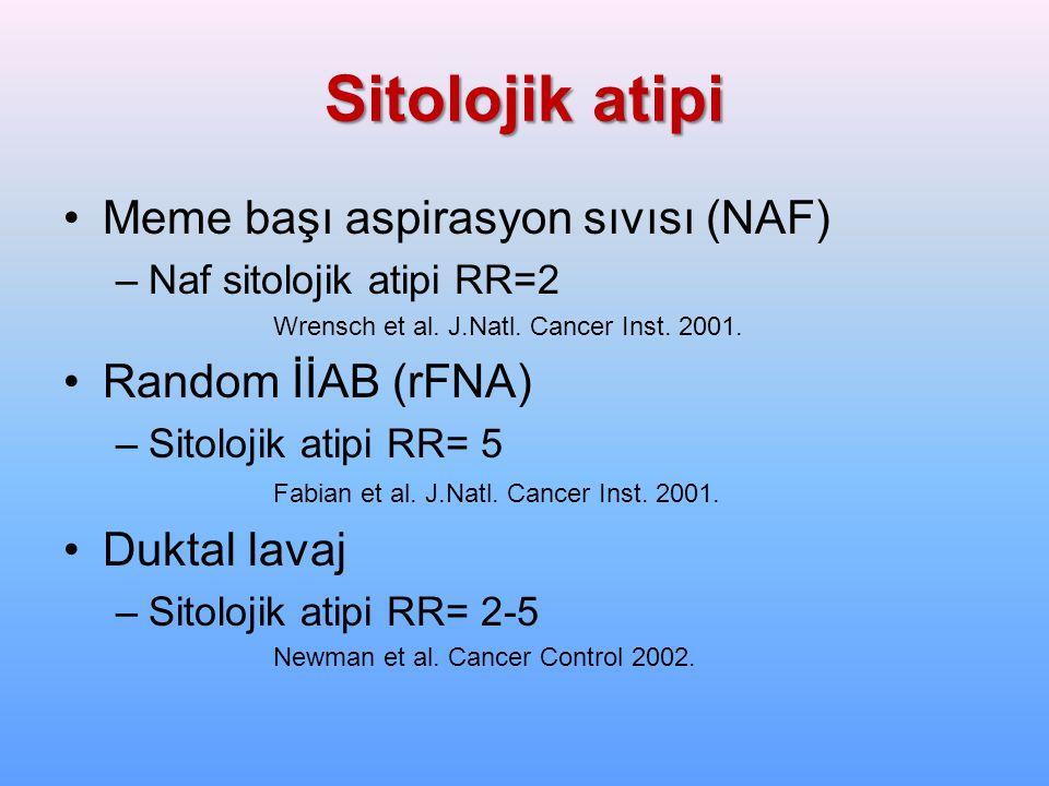 Sitolojik atipi Meme başı aspirasyon sıvısı (NAF) Random İİAB (rFNA)