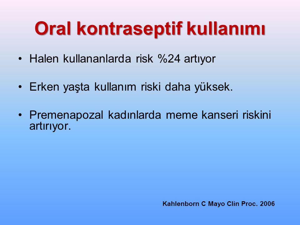 Oral kontraseptif kullanımı
