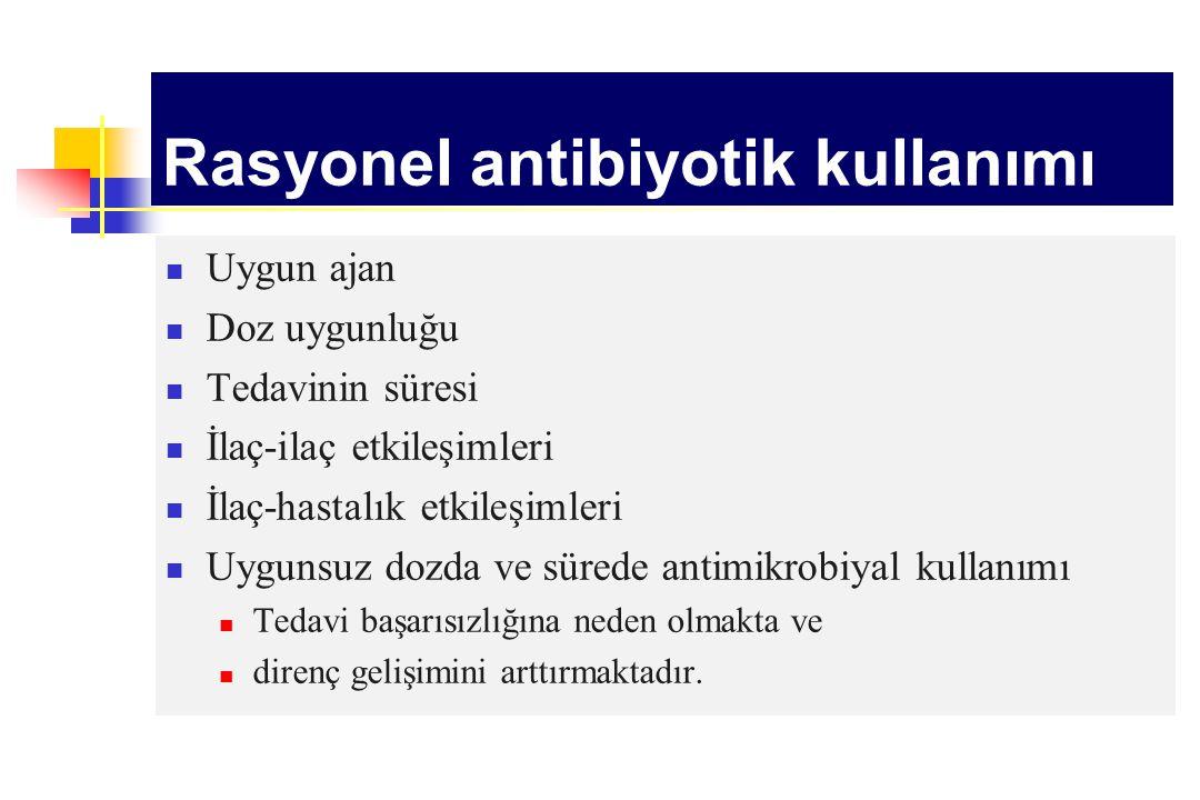 Rasyonel antibiyotik kullanımı