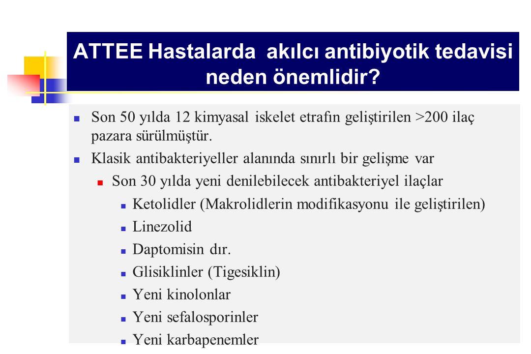 ATTEE Hastalarda akılcı antibiyotik tedavisi neden önemlidir