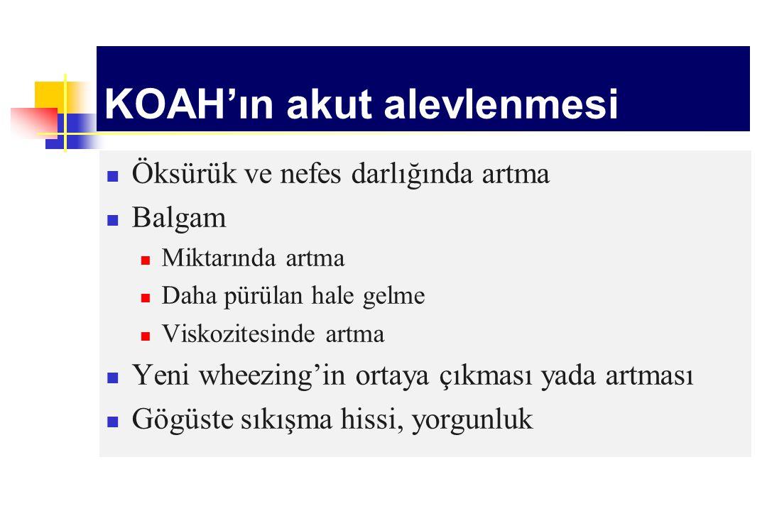 KOAH'ın akut alevlenmesi