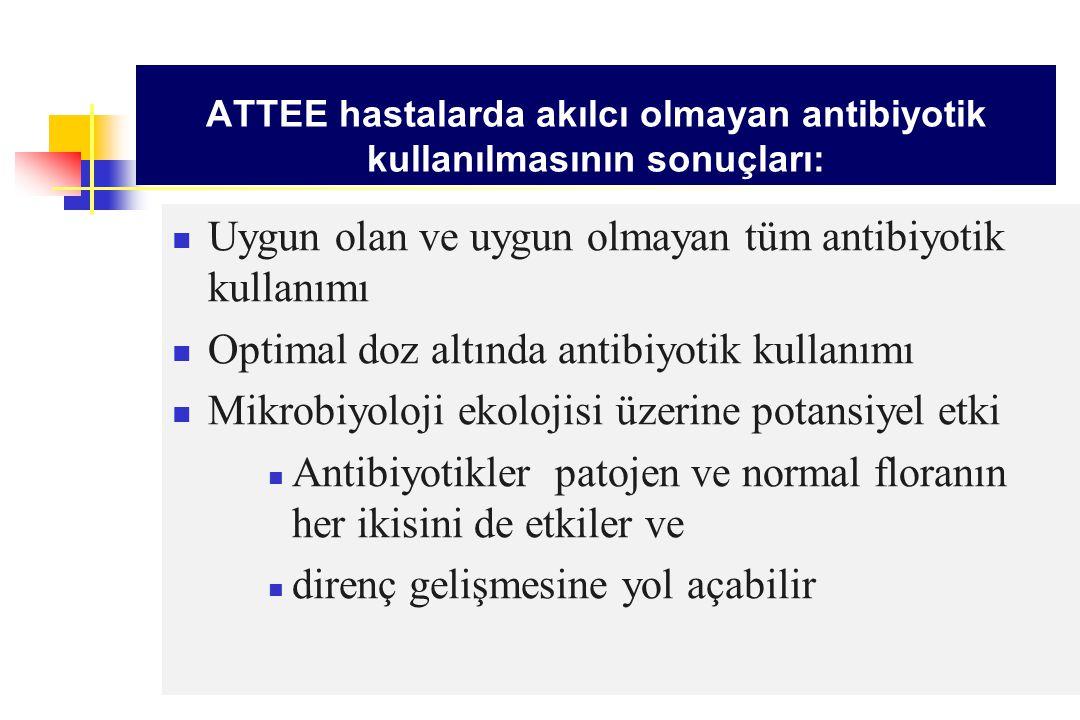 ATTEE hastalarda akılcı olmayan antibiyotik kullanılmasının sonuçları: