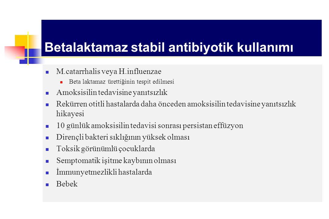 Betalaktamaz stabil antibiyotik kullanımı