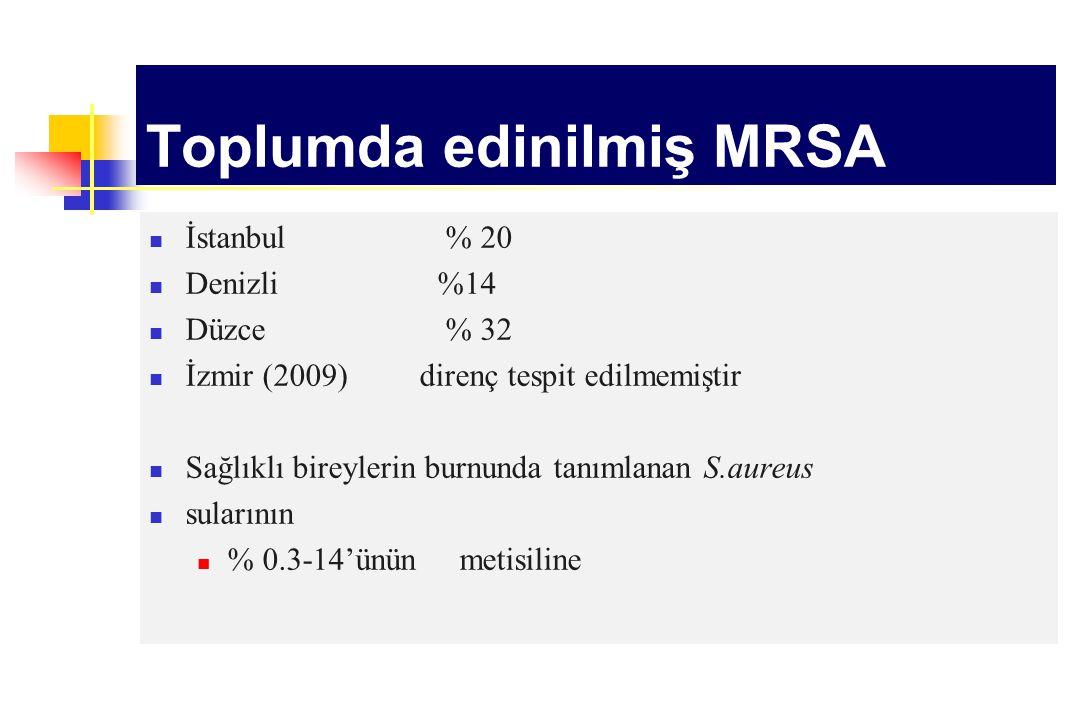 Toplumda edinilmiş MRSA