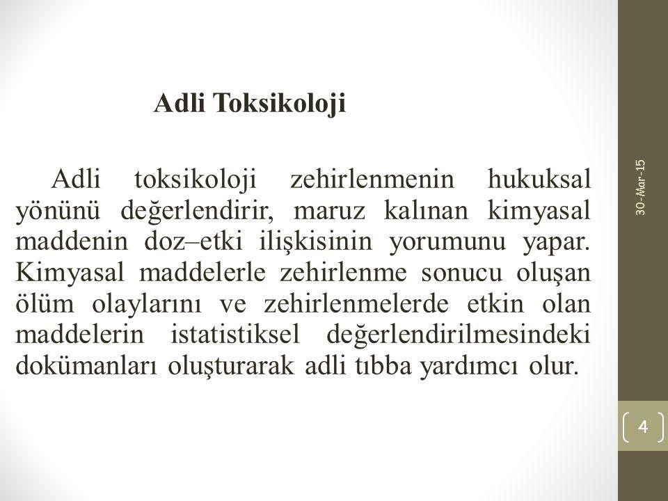 Adli Toksikoloji
