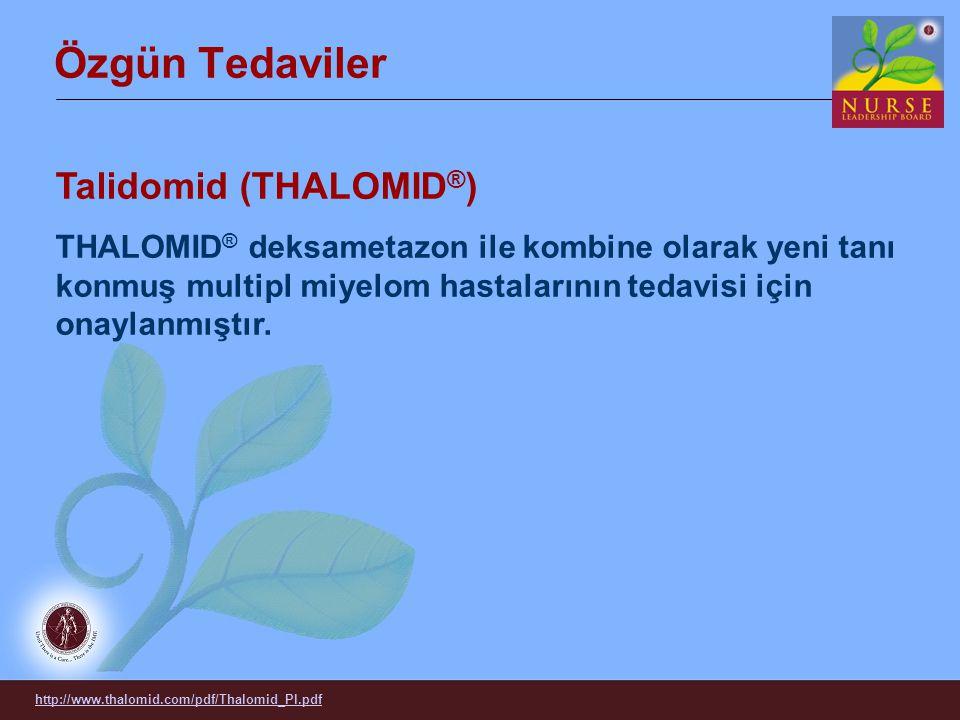Özgün Tedaviler Talidomid (THALOMID®)