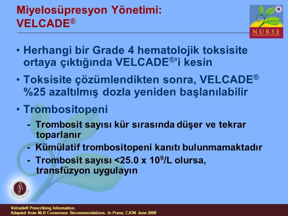 Miyelosüpresyon Yönetimi: VELCADE®