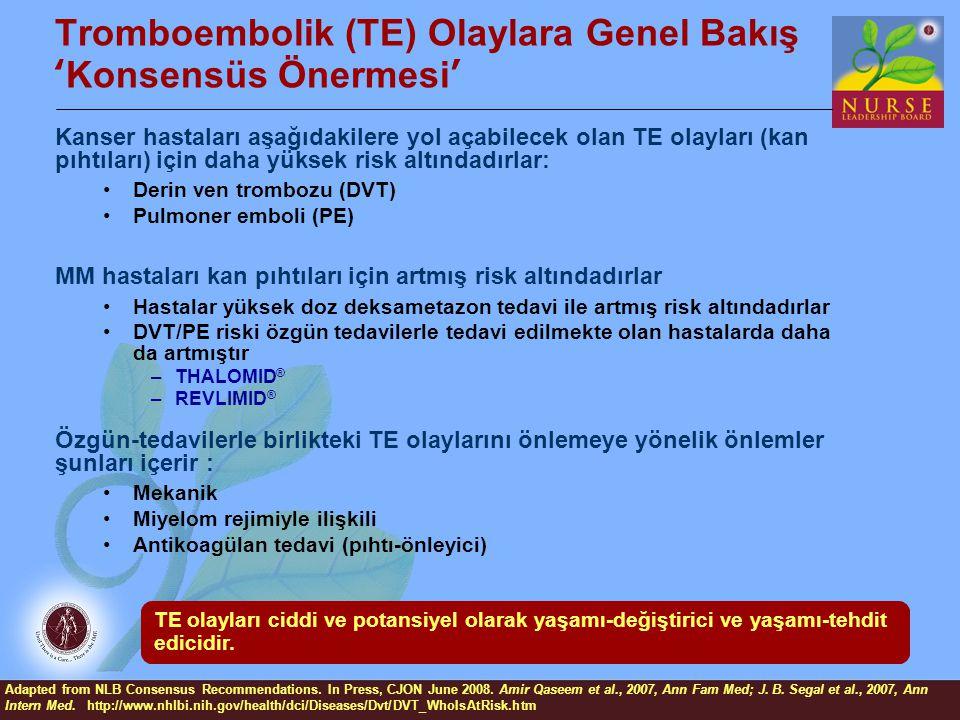 Tromboembolik (TE) Olaylara Genel Bakış 'Konsensüs Önermesi'