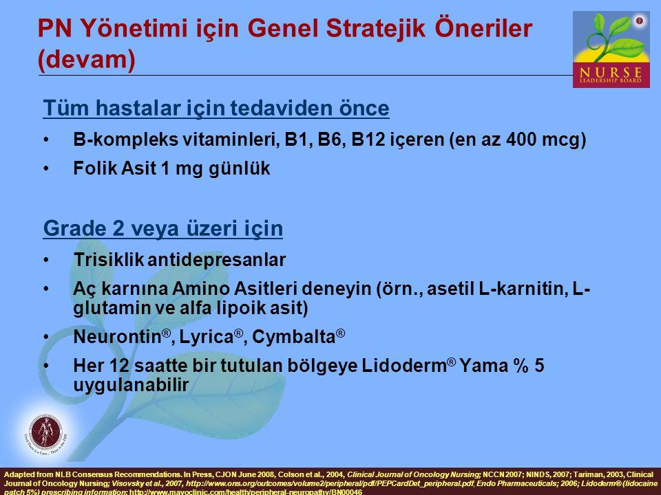 PN Yönetimi için Genel Stratejik Öneriler (devam)
