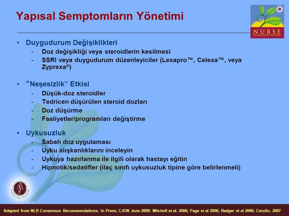 Yapısal Semptomların Yönetimi