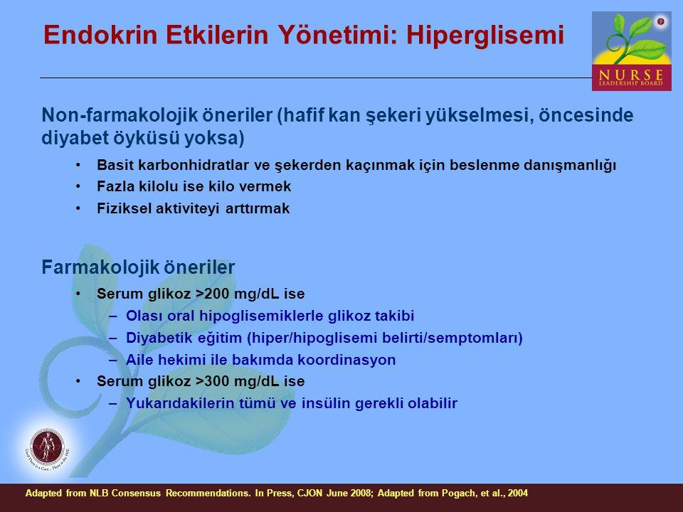 Endokrin Etkilerin Yönetimi: Hiperglisemi