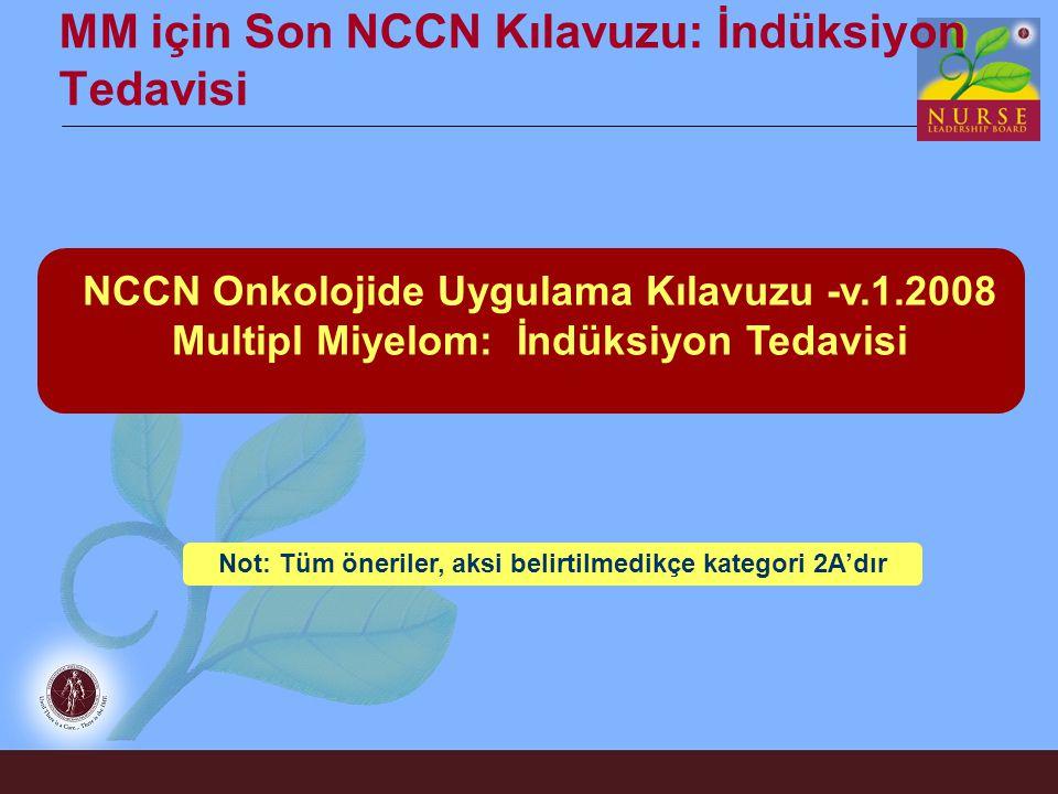 MM için Son NCCN Kılavuzu: İndüksiyon Tedavisi
