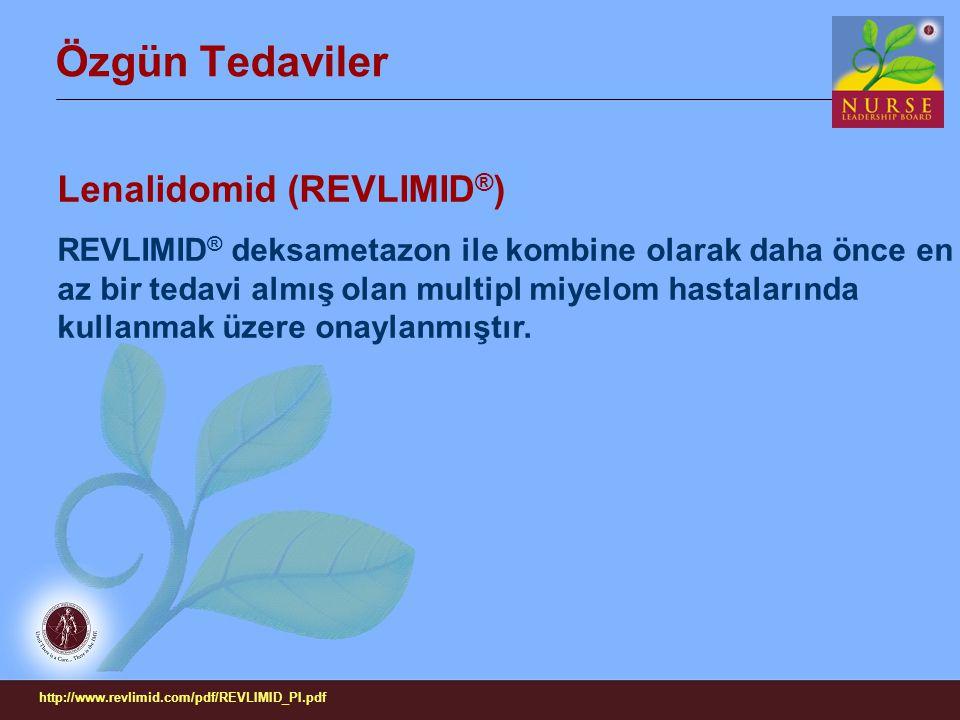 Özgün Tedaviler Lenalidomid (REVLIMID®)