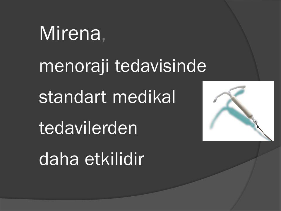 Mirena, menoraji tedavisinde standart medikal tedavilerden daha etkilidir