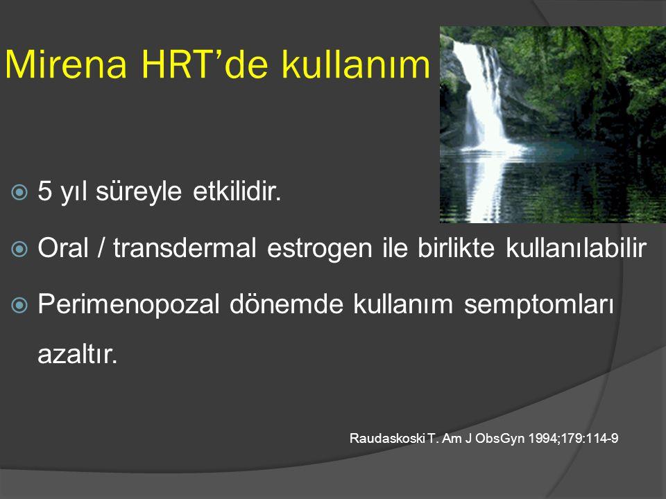 Mirena HRT'de kullanım