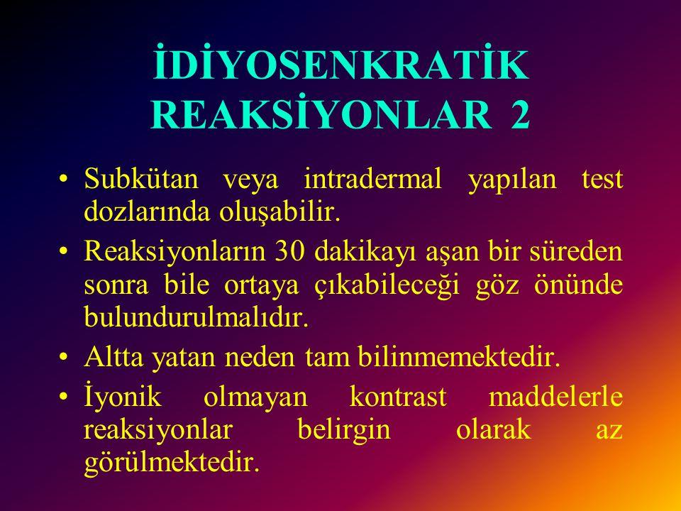 İDİYOSENKRATİK REAKSİYONLAR 2
