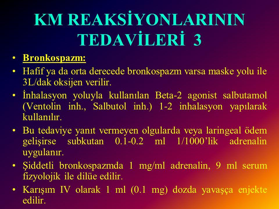 KM REAKSİYONLARININ TEDAVİLERİ 3