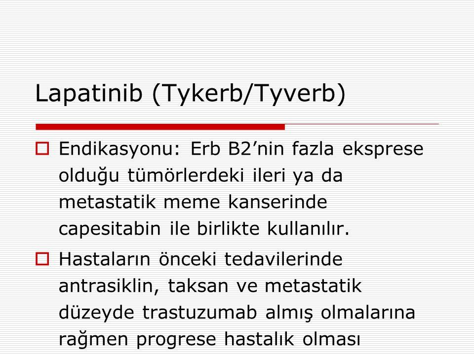 Lapatinib (Tykerb/Tyverb)