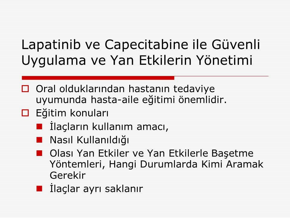 Lapatinib ve Capecitabine ile Güvenli Uygulama ve Yan Etkilerin Yönetimi