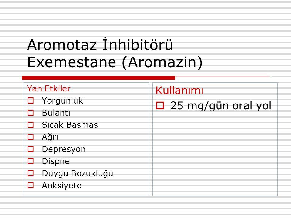 Aromotaz İnhibitörü Exemestane (Aromazin)