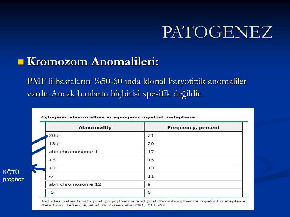 PATOGENEZ Kromozom Anomalileri: