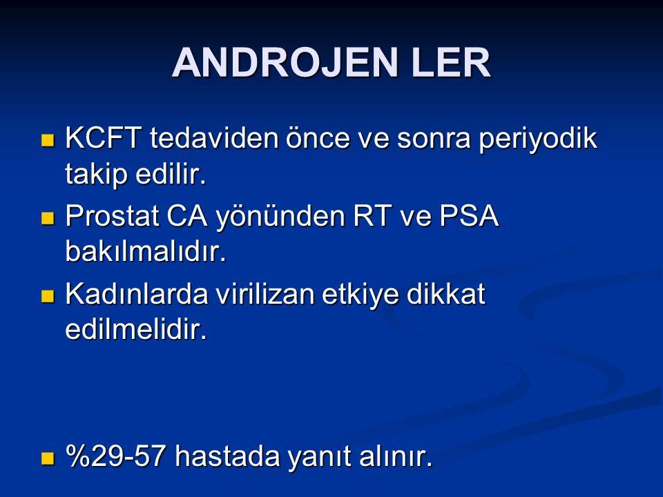 ANDROJEN LER KCFT tedaviden önce ve sonra periyodik takip edilir.