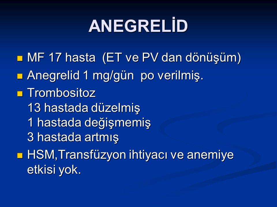 ANEGRELİD MF 17 hasta (ET ve PV dan dönüşüm)