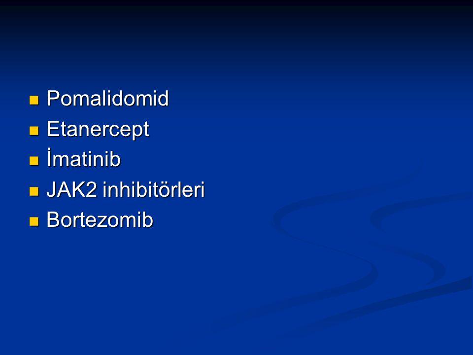 Pomalidomid Etanercept İmatinib JAK2 inhibitörleri Bortezomib