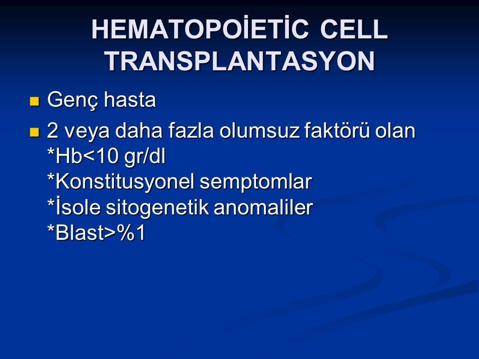 HEMATOPOİETİC CELL TRANSPLANTASYON