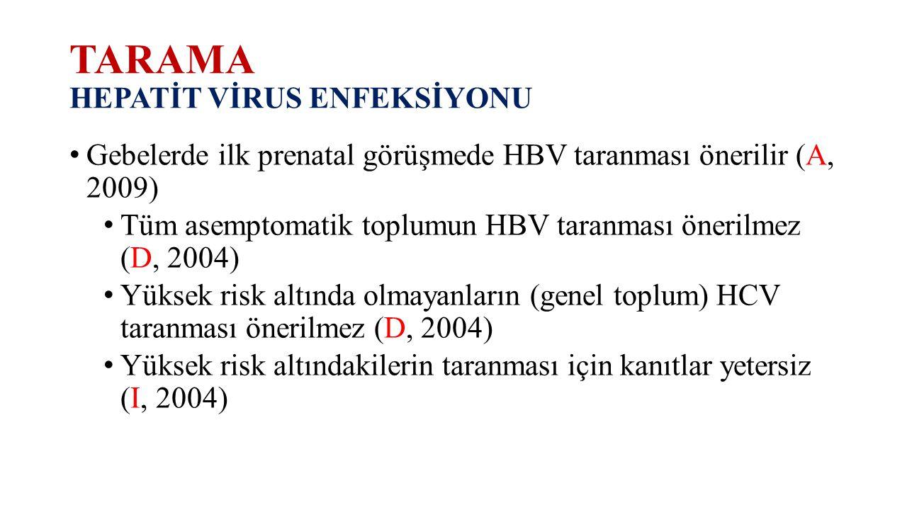 TARAMA HEPATİT VİRUS ENFEKSİYONU