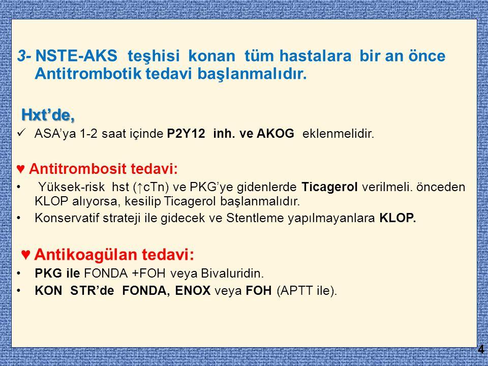 ♥ Antikoagülan tedavi: