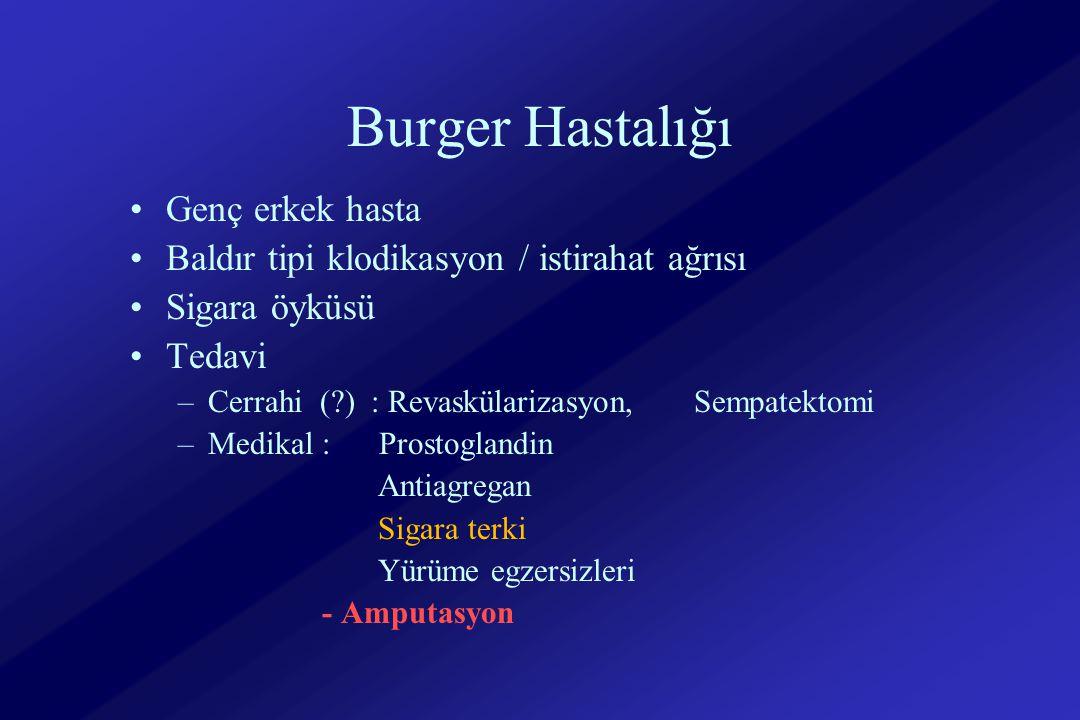 Burger Hastalığı Genç erkek hasta