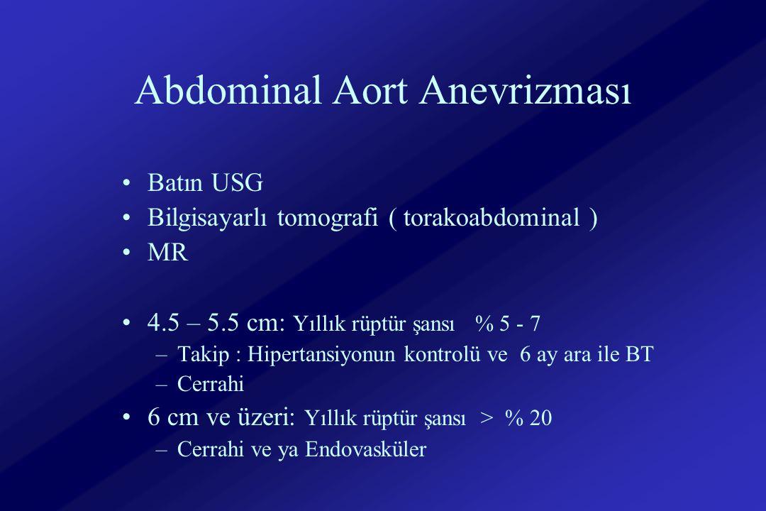 Abdominal Aort Anevrizması