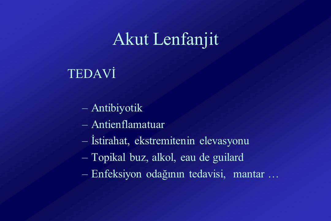 Akut Lenfanjit TEDAVİ Antibiyotik Antienflamatuar