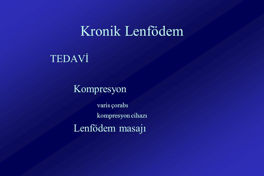 Kronik Lenfödem TEDAVİ Kompresyon varis çorabı Lenfödem masajı