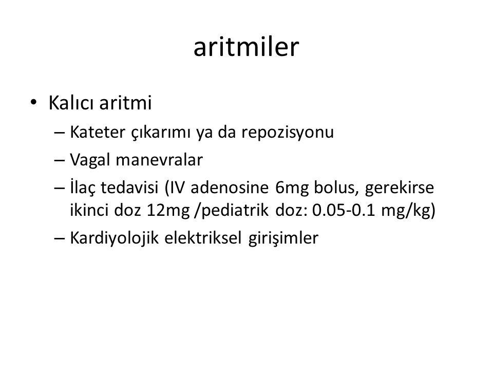 aritmiler Kalıcı aritmi Kateter çıkarımı ya da repozisyonu