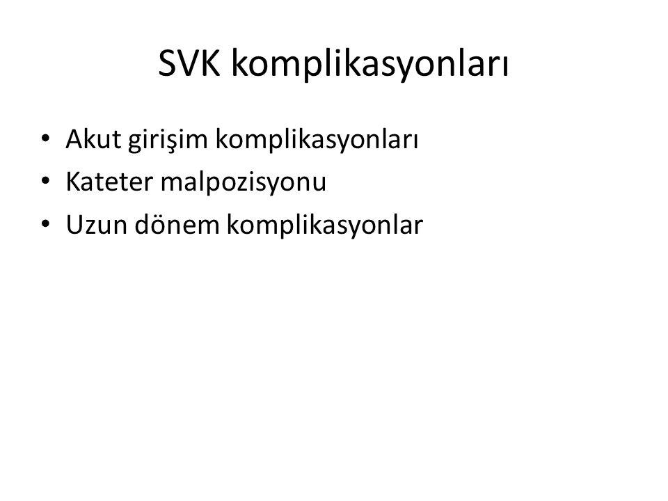 SVK komplikasyonları Akut girişim komplikasyonları