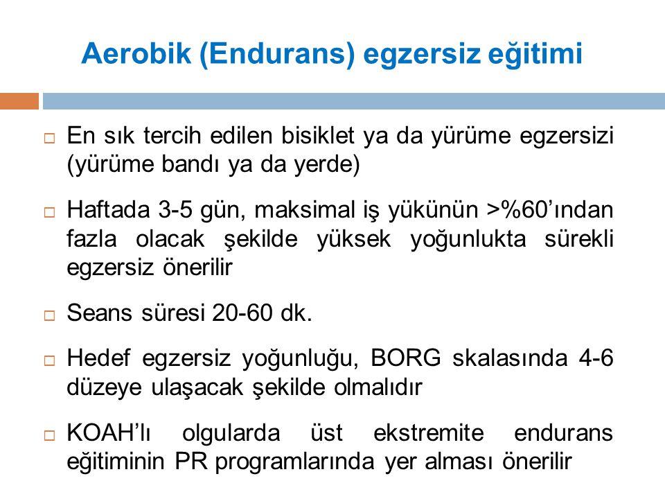 Aerobik (Endurans) egzersiz eğitimi