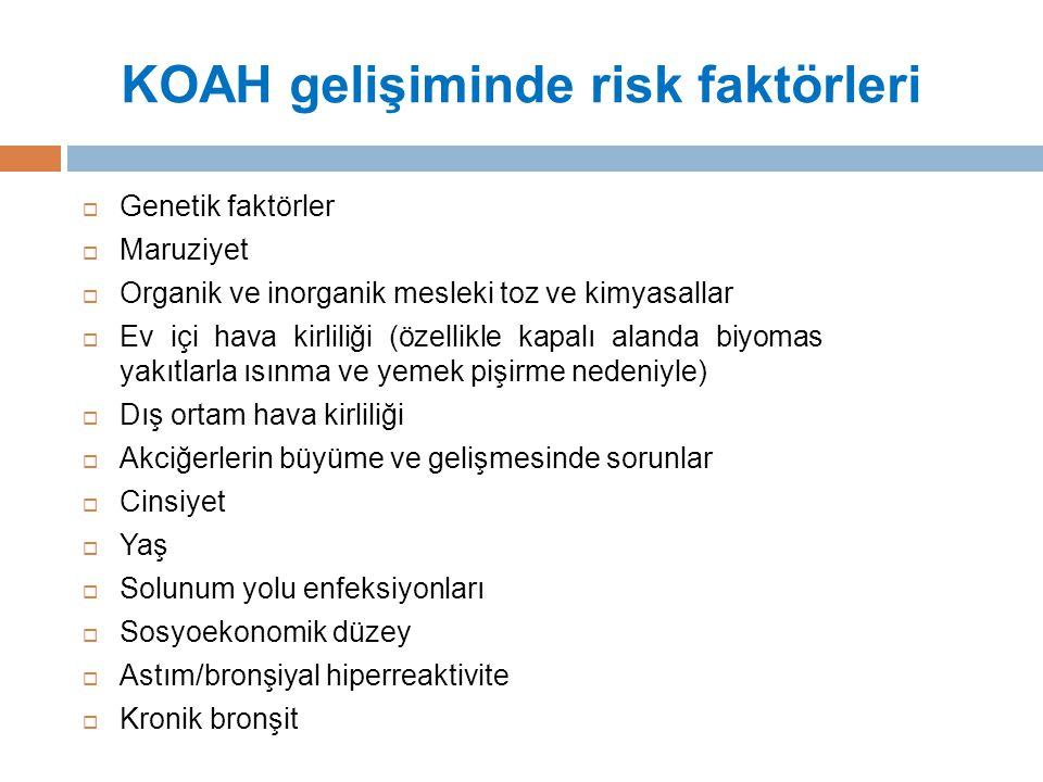 KOAH gelişiminde risk faktörleri